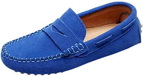 125c517a90e Shenn Boys  Cute Slip-On Suede Leather Loafers Shoes S8884
