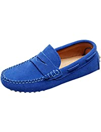 Boys' Cute Slip-On Suede Leather Loafers Shoes S8884
