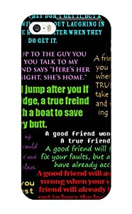 Hot Design Premium Iphone Tpu Case Cover Iphone 5/5s Protection Case Funny Friendship Quotes