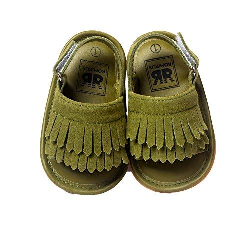 Nicetage Foncé Pu Garçon Doux Bébé Cuir Pas Fille Talon vert 02 top Bambin Petite Chaussure Haut Premier Sneaker Petit ppUrg