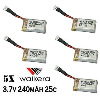 HobbyFlip 3.7v 240mAh Lipo Battery Rechargeable Power Pack HM-Mini CP-Z-17 for UDI RC U830 5 Pack