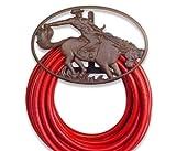 Western Cowboy Horse Garden Hose Reel Hanger Holder