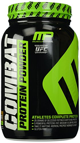 MusclePharm Combat Protein Powder - Essential blend of Whey, Isolate, Casein and Egg Protein with BCAA's and Glutamine for Recovery, Chocolate Peanut Butter, 2 Pound