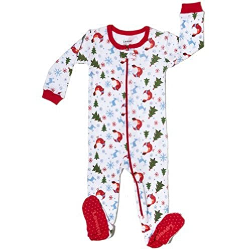 leveret footed pajama sleeper 100 cotton size 6m 5t christmas 12 18 months