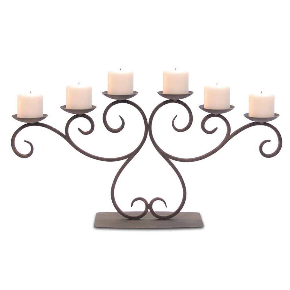 Pilgrim Home and Hearth 17503 Lakewood Candelabra Candle Holder, Distressed Bronze