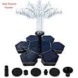 QueenA Solar Fountain Pump,Solar Bird Bath Snowflake Fountain 1.5W Solar Powered Panel Fountain Water Pumps Kit Outdoor Birdbath Water Fountain Pump for Pond/Pool/Patio/Garden Pond
