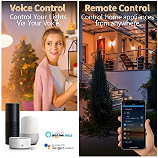 Smart Bulb No Hub Required, Dimmable Multicolor WiFi Light Bulb, A19 7w (60w Equivalent) 2700k-6500k, Compatible with Alexa Google Home Siri IFTTT (3 Pack)