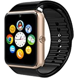 CROCON NFC BLUETOOTH SMART WATCH GT08 FOR ANDROID, IOS, & SMART PHONES GOLD