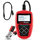 BA101 Automotive Battery Load Tester by AutoKraze | Bad Cell Test Analyzer - Portable, Digital, Rechargeable - Safe Accurate Durable Easy to Use - Cars, Boats, Motorcycles of different battery brands