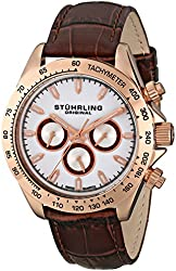 Stuhrling Original Men's 564L.03 Triumph Swiss Quartz Multifunction Rose Tone Watch