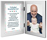 """""""To the Best Grandfather Ever"""" Birthday or Christmas Gift From His Baby Grandchild - Add Photo"""