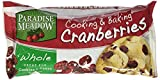 Paradise Meadow Whole Cooking and Baking Dried Cranberries, 7 Ounce
