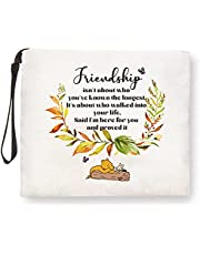 Best Friend Gifts for Women, Gifts for Women, Best Friend Gifts for Birthday Christmas Gift Ideas - I'm Here for You- Winnie the Pooh Makeup Bag for Sister BFF, Friendship Gifts for Women Friends