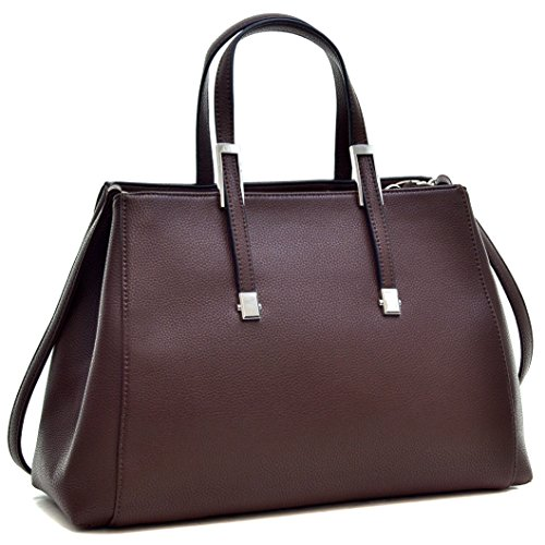 dasein-designer-purse-classic-faux-leather-satchel-briefcase-handbag-tablet-ipad-bag
