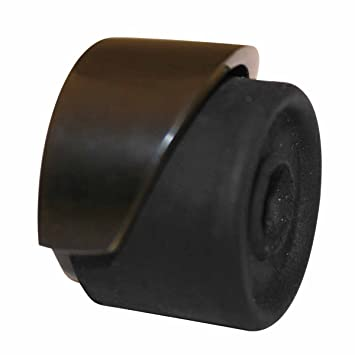 Door Stops Black Over Brass, Door Bumper Black floor/wall mount 1 1/