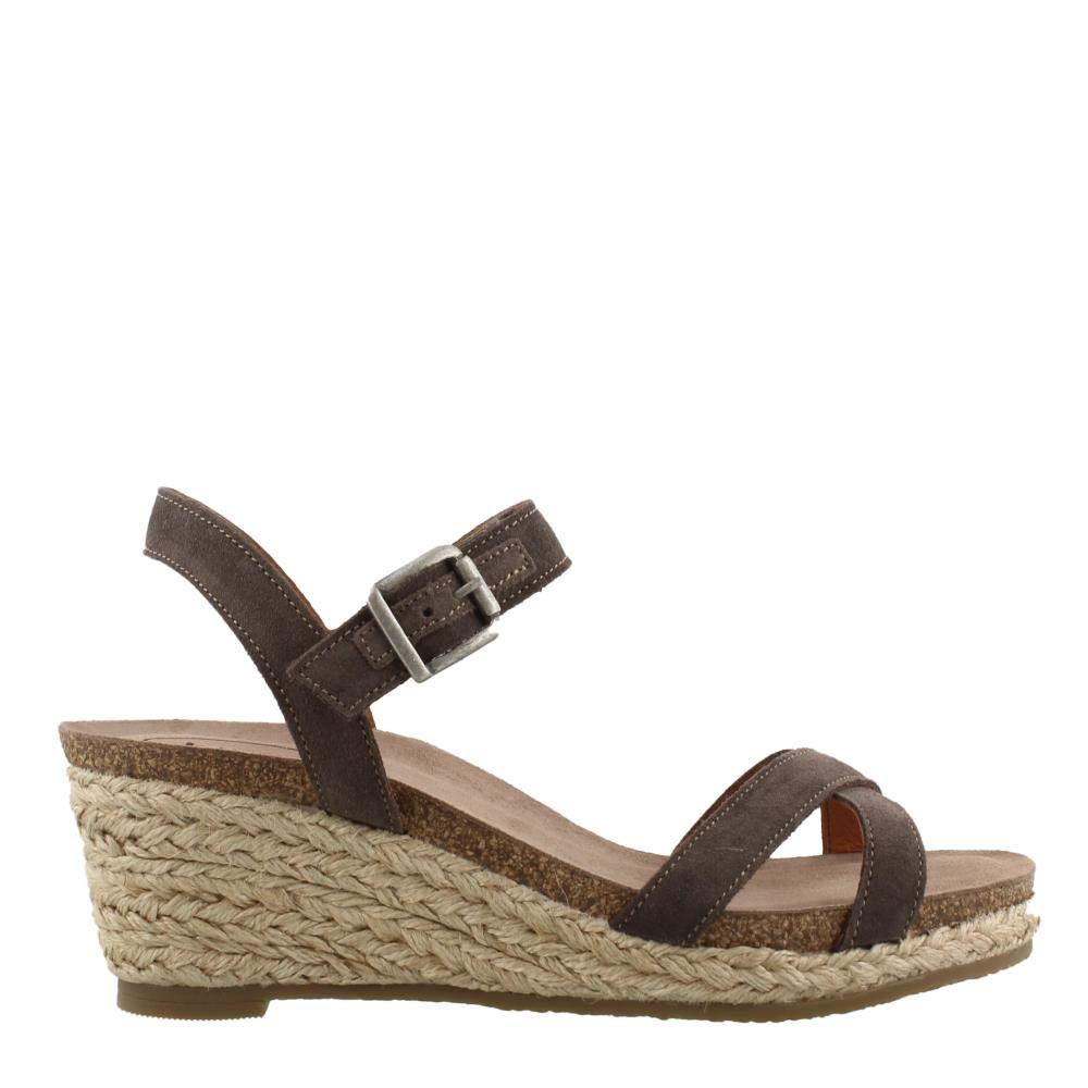 Grey Suede Taos Footwear Women's Hey Jute Sandal Pink
