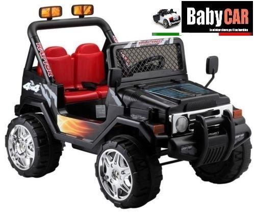 50 opinioni per Babycar 618n- Auto Elettrica per Bambini Jeep Safari con Telecomando, 12 Volt,