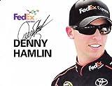 AUTOGRAPHED 2012 Denny Hamlin #11 FedEx Express Racing Signed 9X11 NASCAR Photo Hero Card with COA