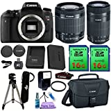 Canon EOS Rebel T6S Camera & 18-55mm IS STM & 55-250mm IS STM Lens. PagingZone Kit Includes, 2 Pcs - 16GB Class 10 Memory Card + Canon Bag + Flash + Tripod + UV Filter + Card Reader + Cleaning Kit