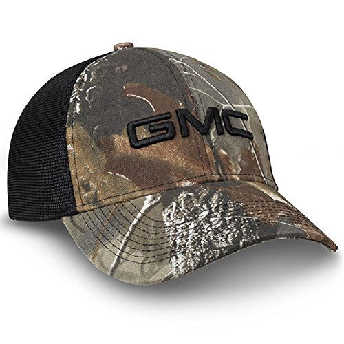 GMC Realtree Hardwoods Camo Black Mesh Hat
