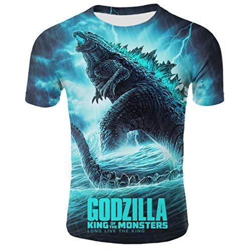 - Godzilla Movie Posters 2 Youth Boys 3D Printed Short Sleeves T-Shirt