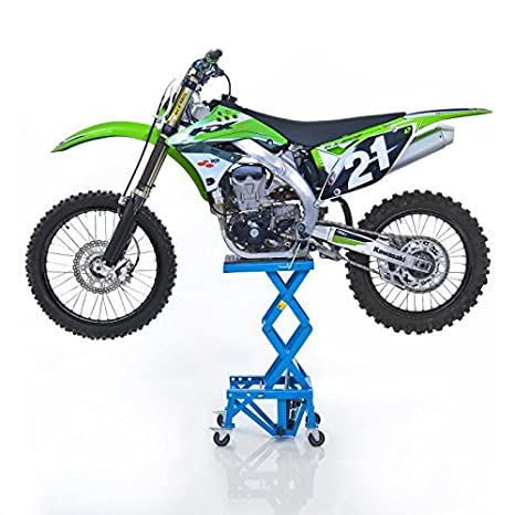Ponte Sollevatore Idraulico Constands Moto Cross Xl Ruote Blu