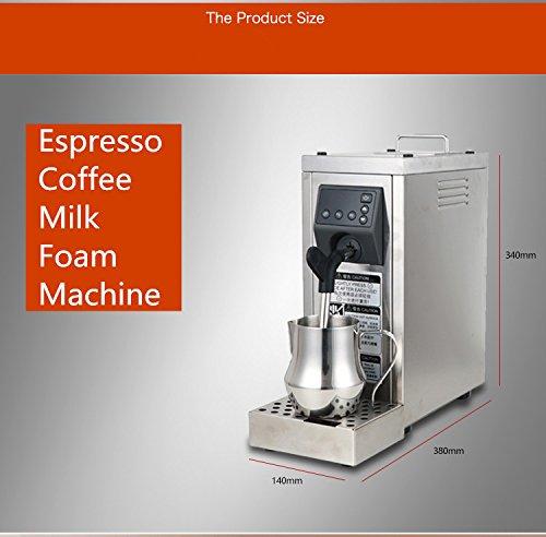 JIAWANSHUN Professional Espresso Coffee Milk Foam Machine Milk Frother Coffee Frothing Machine Milk Steamer Steam Coffee Milk Bubble Machine by JIAWANSHUN (Image #4)
