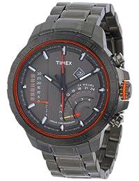 Timex Men's Intelligent Quartz T2P273 Grey Stainless-Steel Analog Quartz Watch with Grey Dial