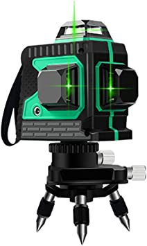 Electronic Laser Level 12 Lines Green Beam 131ft Vertical Horizontal Line With 1 Tripod Base Rechargeble Battery Wider Range High Precision Amazon Com