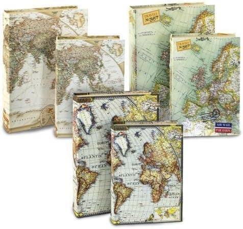 Set de 2 cajas en forma de libro (1 juego) mapa lakeballs: Amazon ...