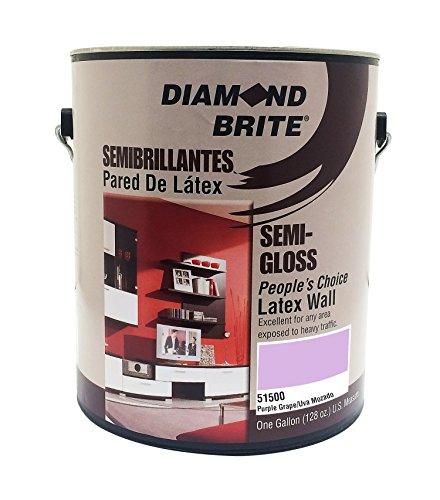 Diamond Brite Paint 51500 1-Gallon Bright and Rich Latex Paint Purple Grape