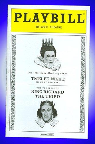 Twelfth Evening, Broadway Playbill + Samuel Barnett, Stephen Fry, Jethro Skinner, Colin Hurley, Angus Wright, Mark Rylance, Liam Brennan, John Paul Connolly, Peter Hamilton Dyer