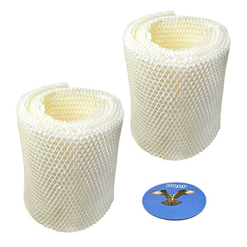 HQRP 2-pack Wick Filter for Kenmore 14410, 14411, 15412, 154120, 29979, 29980, 29981, 29982, 03215412000 Humidifier + HQRP Coaster (Best Air Humidifier Filter Ef1)