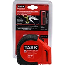 Task Tools TQ270 27-Foot Quickdraw Measuring and Marking Tape
