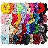 Mandydov 40pcs Hair Scrunchies Velvet Elastic Hair Bands Scrunchy Hair Ties Ropes 40 Pack Scrunchies for Women or Girls Hair Accessories - 40 Assorted Colors Scrunchies