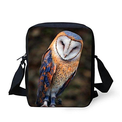 HUGS IDEA Y-C672E - Bolso cruzados para mujer Marrón Owl2 Small Owl3