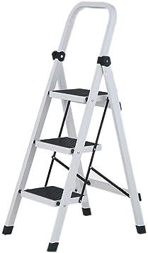 DWLXSH Escalera plegable de metal antipatinaje pies de ancho pedal plegable con una sola mano y el despliegue seguro y estable posterior Pata de apoyo: Amazon.es: Bricolaje y herramientas