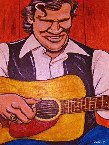 doc-watson-print-poster-country-bluegrass-martin-guitar-cd-lp-record-album-pickin-the-blues-on-prayi