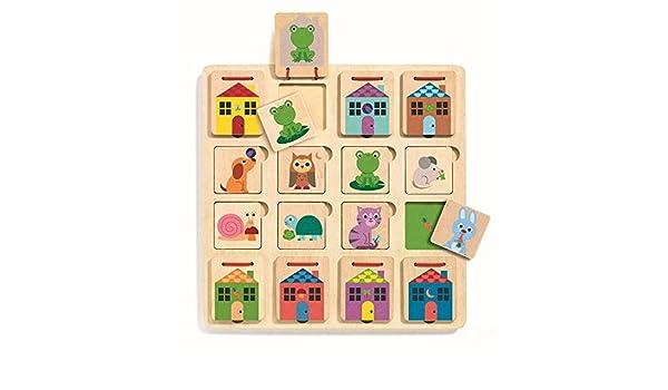 Djeco Juego de escondite Cabanimo (31520), Multicolor (1): Amazon.es: Juguetes y juegos