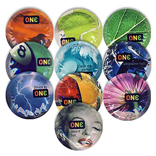 ONE Color Sensations Premium Lubricated Latex Condoms with Pocket/Travel Case (Silver ()