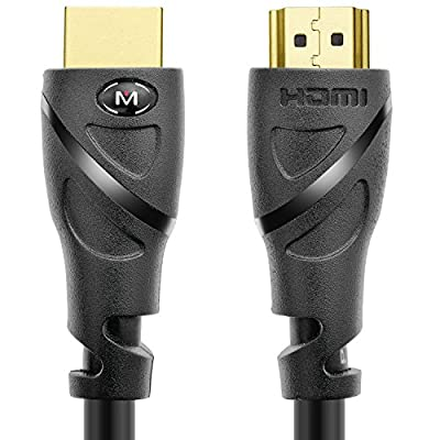 Mediabridge HDMI Cable (35 Feet) - Supports 4K@60Hz - High Speed, Hand-Tested, HDMI 2.0 Ready - UHD, 18Gbps, Audio Return Channel, Ethernet (Part# 91-02X-35B) by Mediabridge Products, LLC.