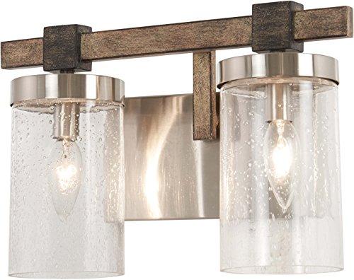 Minka Lavery 4632-106 Bridlewood Vanity, 2-Light 120 Total Watts, Stone Grey