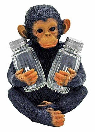 Chimpanzee Salt and Pepper Shaker Holder Figurine