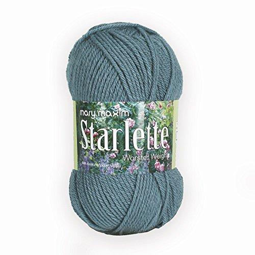 (Mary Maxim Starlette Yarn - Azure - 100% Ultra Soft Premium Acrylic Yarn for Knitting and Crocheting - 4 Medium Worsted Weight)