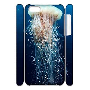 T-TGL(RQ) Iphone 5C 3D Phone Case Jellyfish with Hard Shell Protection