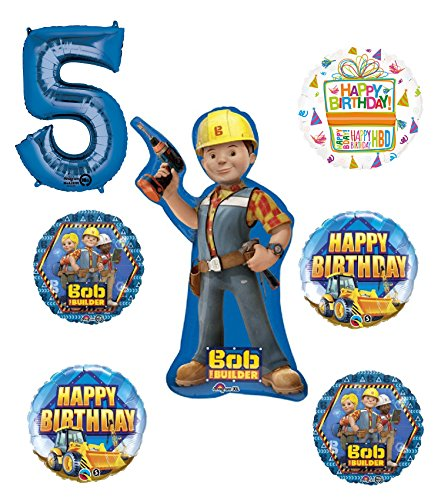 - Bob The Builder Construction 5th Birthday Party Supplies and Balloon Decorations