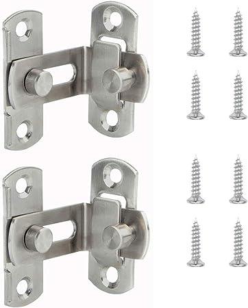 3 x Vintage retro slide latch bolt door or window hasp lock gate tool 4 inch
