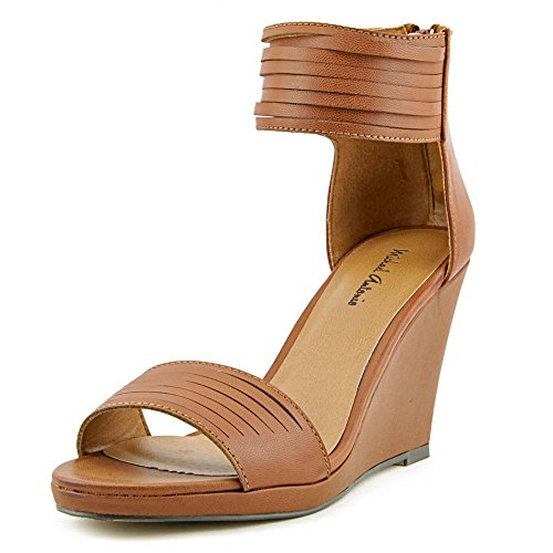 Michael Antonio Women's Alani Wedge Sandal,Cognac,8.5 M US
