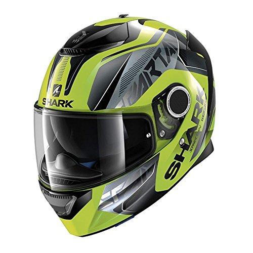Shark Spartan Karken Hi-Viz Yellow Black Motorcycle Helmet Size Medium