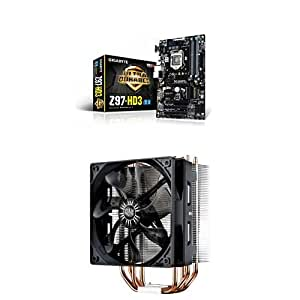 Gigabyte GA-Z97-HD3 LGA 1150 Z97 HDMI 2-Way CrossFire ATX Motherboard with Cooler Master Hyper 212 EVO - CPU Cooler with 120mm PWM Fan